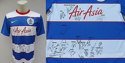 2015-16 QPR Home Shirt Signed by Squad inc Green Hill Phillips Onuoha (9498)