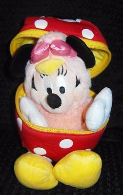 RARE DISNEY WORLD EASTER EGG WITH MINNIE MOUSE CHICK Plush Soft Toy SET