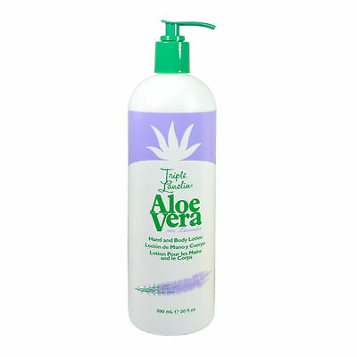 Triple Lanolin Aloe Vera with LAVENDER Hand & Body Lotion 590ml/20oz