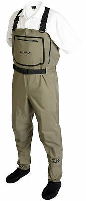 *Half Price!* Daiwa Breathable Stocking Foot Chest Waders DBSW *RRP £240*
