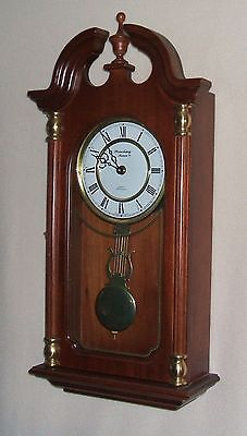 Strausbourg Manor Mahogany Wall Clock with Westminster Chimes