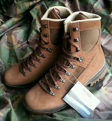 New British Army Meindl Desert Brown Combat Boots UK 10 10M