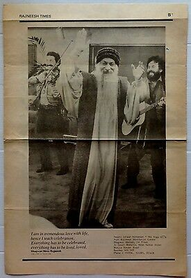 Rajneesh Times English Supplement c.1985 Historic Osho pics