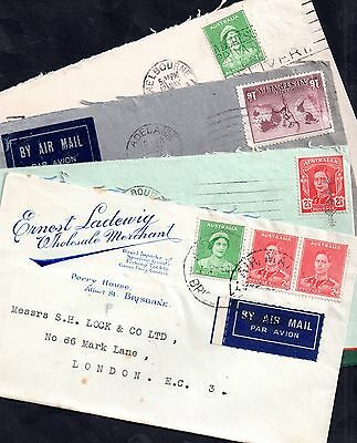 Australia KGVI 4 x postal history covers Advertising/Commercial WS2924