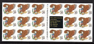 USA 1992 29c x 17 self adhesive complete booklet WS2920