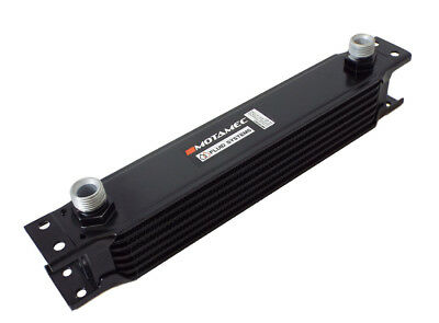 Motamec Oil Cooler 7 Row - 235mm Matrix - 1/2 BSP - Black Alloy