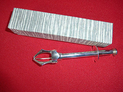 rare vintage French claw grip sugar tongs pince à sucre silver new BOXED