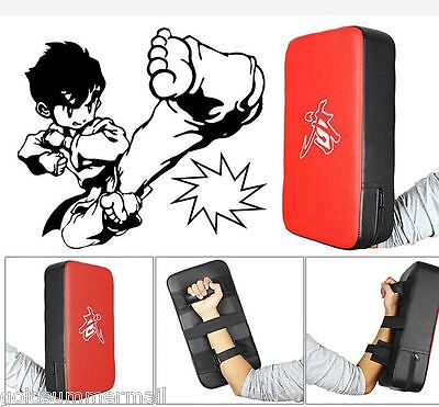 PU Leather Rectangle Strike Punching Kicking Pad Arm Shield Target for Boxing