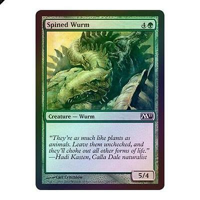 Magic The Gathering MTG Spined Wurm - Foil 2011 (M11) Singles