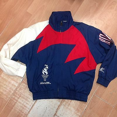 Collectors Vintage Atlanta 1996 Olympic Games Track Top Large
