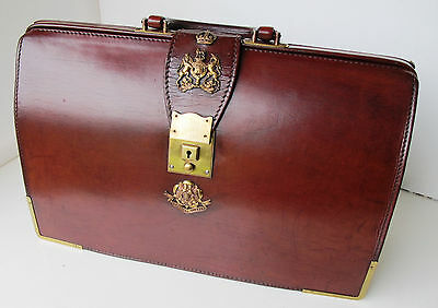 WW1 Leather military briefcase.