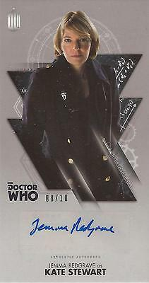 "Doctor Who Widevision - Jemma Redgrave ""Kate Stewart "" Autograph Card #08/10"