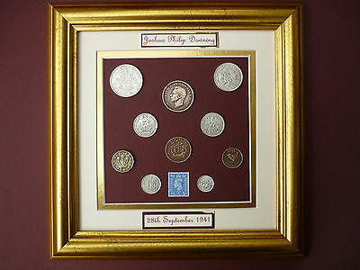 PERSONALISED FRAMED 1941 COIN SET 76th  BIRTHDAY GIFT IN 2017