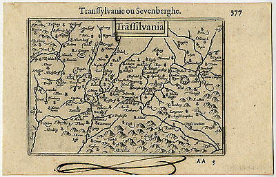 Antique Map-TRANSYLVANIA-ROMANIA-Langenes-1600
