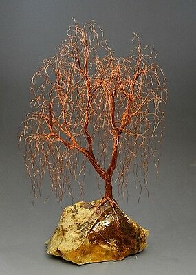 Weeping Willow Copper Wire Tree  Art Sculpture  - 2263 - FREE SHIPPING