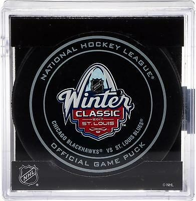 Chicago Blackhawks vs Blues 2017 NHL Winter Classic Unsigned Official Game Puck