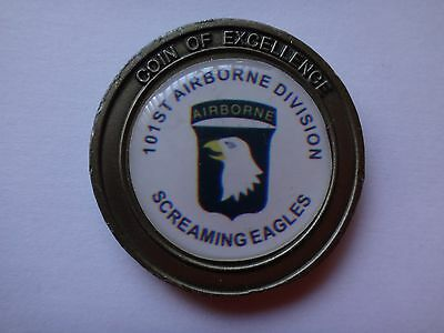 US Army 101st AIRBORNE DIVISION 2-Side Challenge Coin Of EXCELLENCE