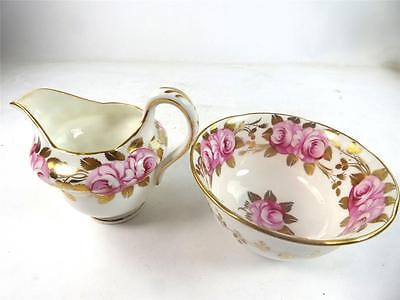 C1920's GROSVENOR PORCELAIN SWANSEA ROSE PORCELAIN MILK JUG & BOWL