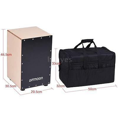 ammoon Adults Wooden Cajon Box Drum Hand Drum Birch Wood with Bag New L7H3