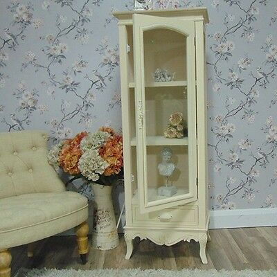Cream Cabinet Display Unit Ornate Shabby Vintage Chic French Furniture Home