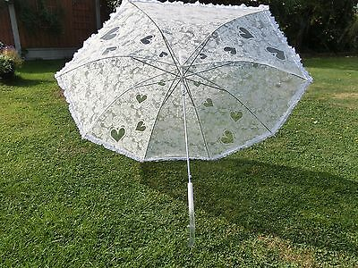 Ivory Lace effect wedding umberella-waterproof (used once for 2 wedding photos)