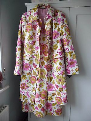 Boden Floral Dress & Coat Special Occasion Outfit. Size 12