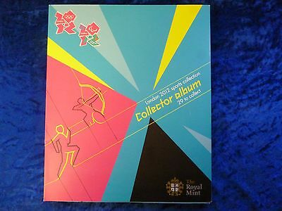 Royal Mint London 2012 BU 50p Fifty Pence Sports Collection inc. Completer