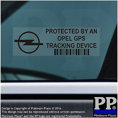 5 x Opel GPS Tracking Device Security Window BLACK Stickers-Car Alarm Tracker