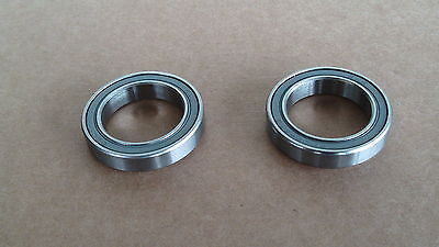 2 X Quality Cycle Ss Cartridge Bearings 37Mm X 7Mm X 25Mm 6805 2Rs Hub Etc New