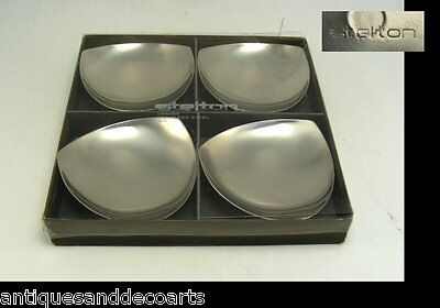 Set with 4 Vintage Stelton Denmark Stainless Steel Bowls by Arne Jacobsen