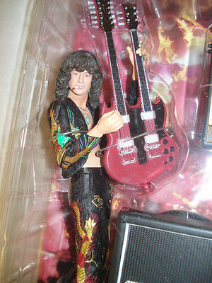 jimmy page neca 2006 action  figure led zeppelin guitar wizard mip sweet  new !