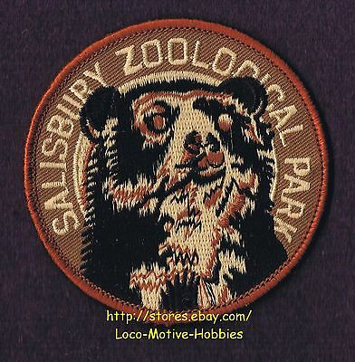 """LMH Patch Badge  SALISBURY ZOOLOGICAL PARK Zoo  SPECTACLED ANDEAN BEAR  MD 3"""""""
