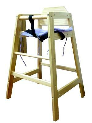 Wooden Baby High Chair Highchair Feeding Home & Commercial Restaurant Stackable