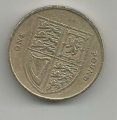 UK 2009 £1 ONE POUND Coin QEII SHIELD  good circulated