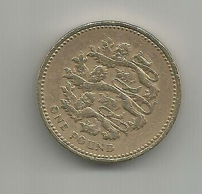 UK ENGLAND 1997 £1 ONE POUND Coin QEII THREE LIONS  good circulated