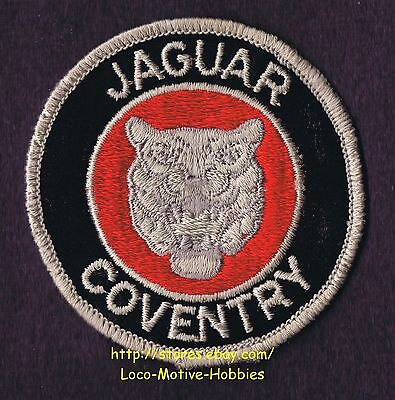 LMH Patch Badge  JAGUAR COVENTRY  Black Red Cat Logo  Luxury Sports Cars Jag 3""