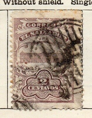 El Salvador 1911 Early Issue Fine Used 2c. 120624