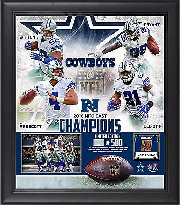 """Dallas Cowboys Framed 15"""" x 17"""" 2016 NFC East Division Champions Item#5879386"""