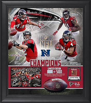 Atlanta Falcons Framed 15x17 2016 NFC South Champs Collage & Piece of Used Ball