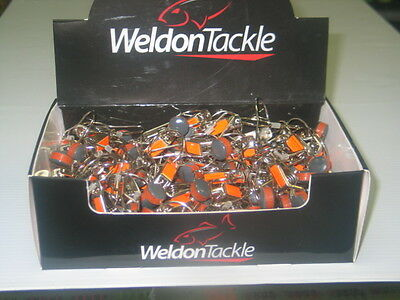 Counter Display Box Of 100 Planer Board Release Clips Weldon Tackle NEW IN BOX