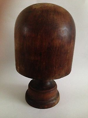 Vintage Wooden Hat Block/Form with Stand, Millinery Display