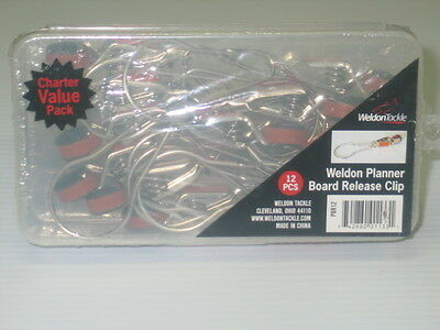 Box Of 12 Planer Board Release Clips Weldon Tackle NEW IN BOX