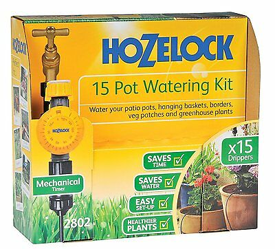 Hozelock 15 Pot Plant Watering Kit with Mechanical Timer - New