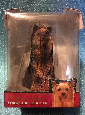 Yorkshire Terrier Limited Edition Christmas Ornament Aca Collector Series NIB