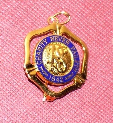 Vintage Relief Society Pin Pendant Medallion Necklace 1842 Charity Never Faileth