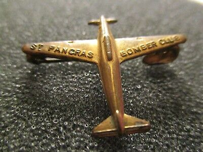 WW2 St. Pancras Bomber Club  RAF Royal Air Force Fundraising Fighter Plane Pin