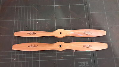 Airflow precedent punctillo Model Wood 11x6 R/C Airplane Propeller glow electric