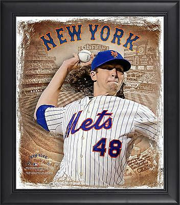 "Jacob deGrom New York Mets Framed 15"" x 17"" Playmakers Collage"