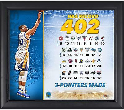 "Stephen Curry Warriors Framed 15"" x 17"" NBA Record Collage Fanatics Authentic"