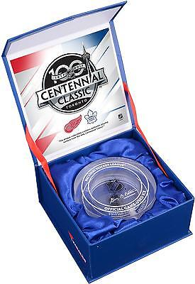 2017 NHL Centennial Classic Detroit Red Wings vs Maple Leafs Crystal Puck